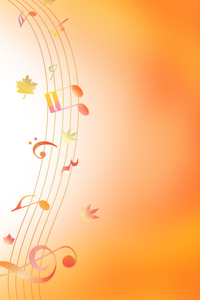 Fantasy Yellow Line Musical Notes Music Background Dreamy Yellow