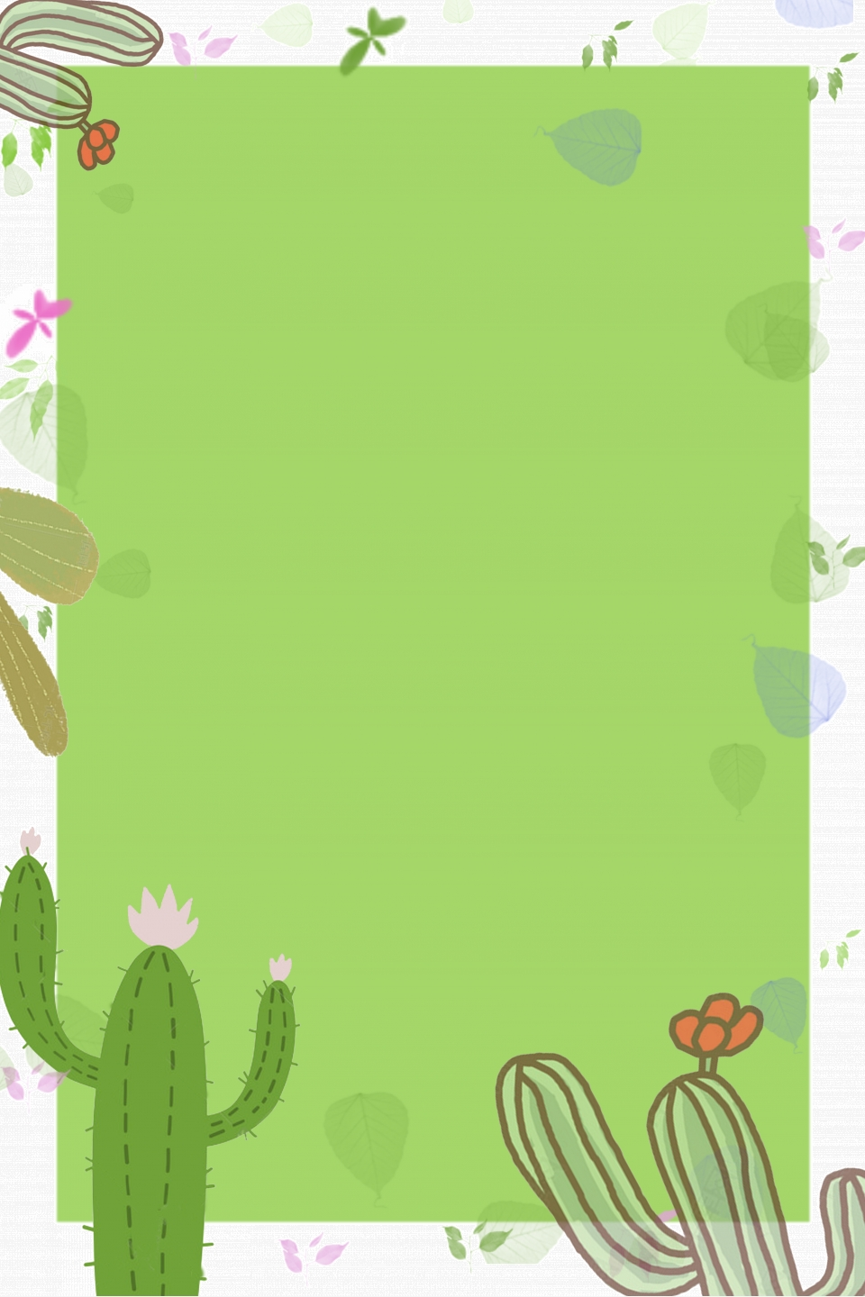 Fresh Art Simple Cactus Creative Cactus Plant Background Cactus Succulents Literary Posters Imagem De Plano De Fundo Para Download Gratuito