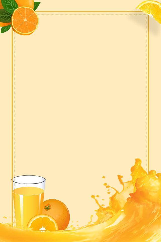 ملصق اعلان تجاري عن عصير البرتقال