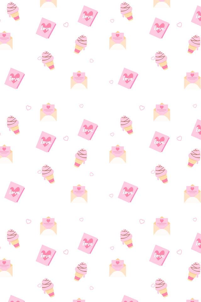 Hand Drawn Background Love Hello Kitty Flat Drawn Love Imagem