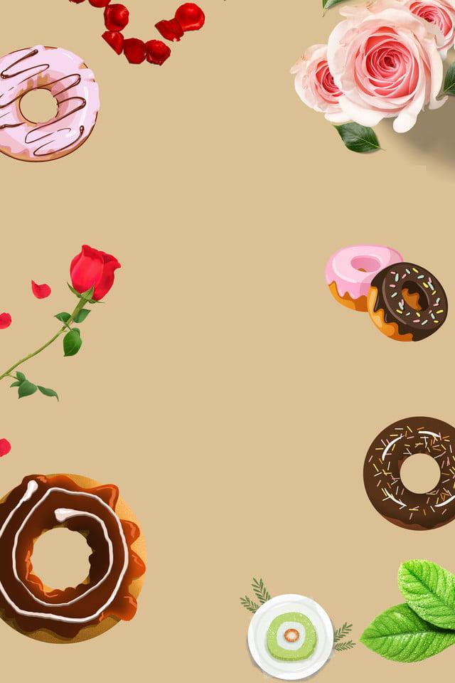 Pencuci Mulut Iklan Promosi Coklat Donat Naik Pada Buku Kotak