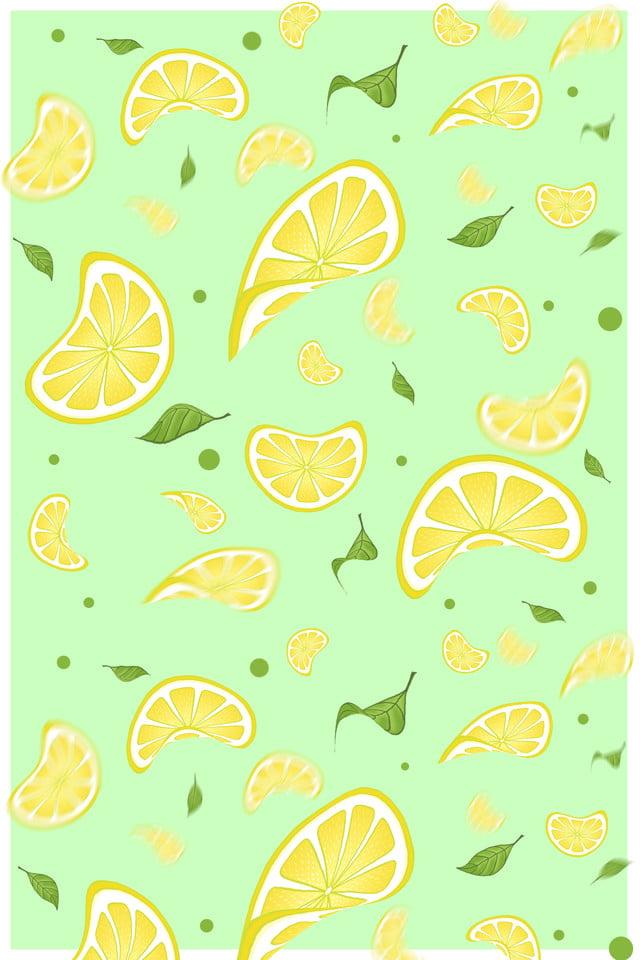 Hand Painted Lemon Tile Wallpaper Print Ad Hand Painted