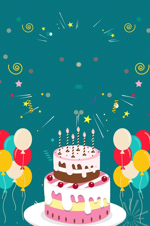 Happy Birthday Poster Hd Background Birthday Poster Psd Layered Material Birthday Cake Birthday Card Background Image For Free Download