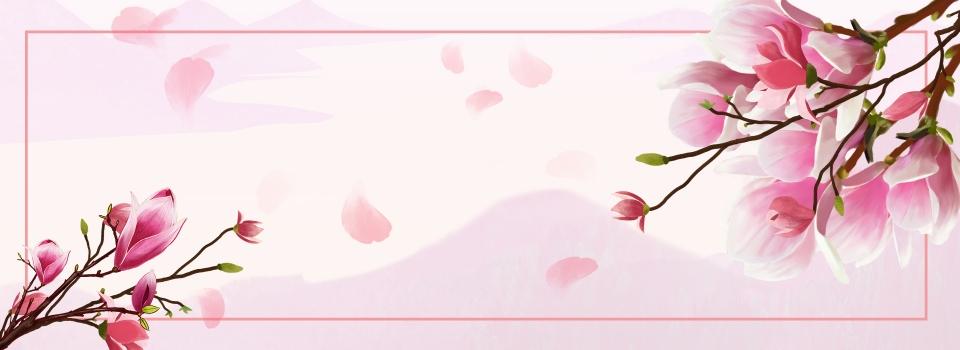 Japanese Flower Art Fresh Beauty Banner Japanese Flower Literary Background Image For Free Download