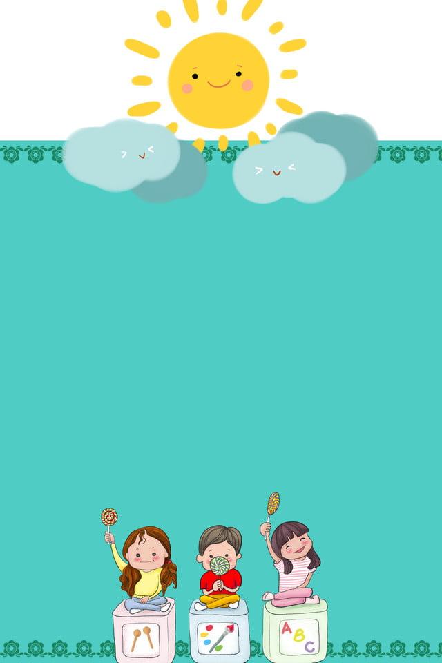 ملصق تسجيل رياض الأطفال روضة أطفال التسجيل شمس صورة الخلفية للتحميل مجانا