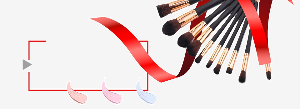 Makeup Brush Minimalist White Poster Background Banner Makeup Brush Beauty Clip Tape Background Image For Free Download