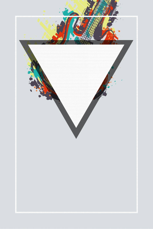 Minimalistic Creative Music Poster Background Psd Creative Music