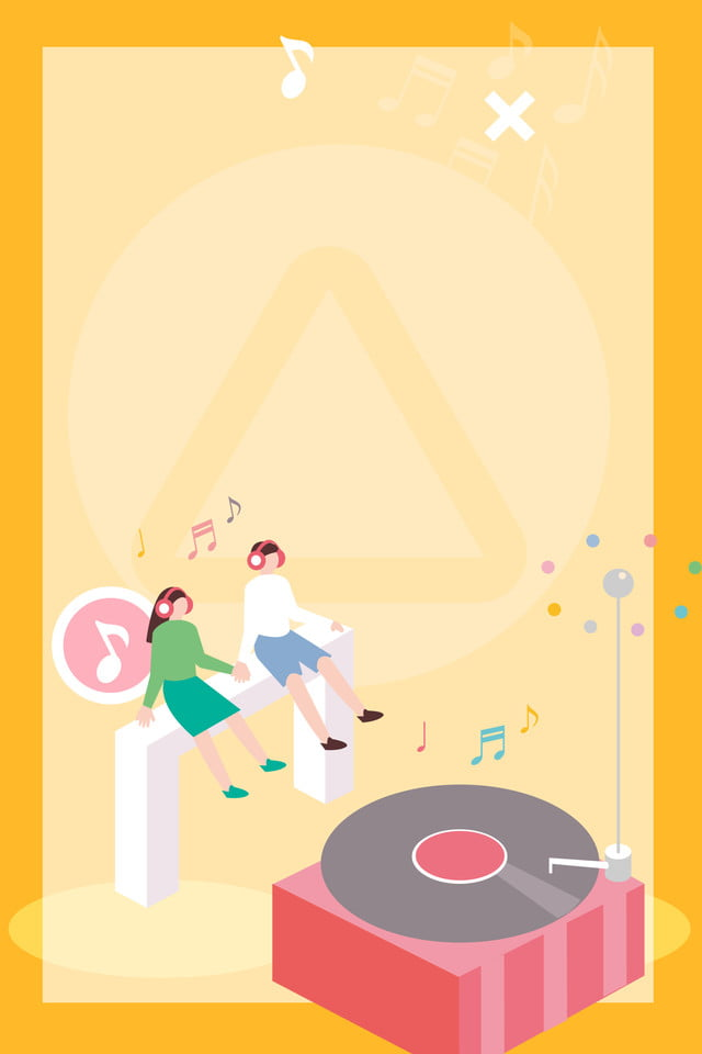 Music Poster Design Music Disc Aesthetic Background Image For Free Download
