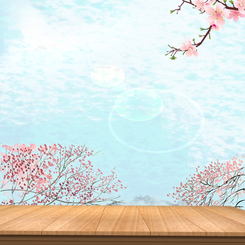 Pink Flowers Wooden Board Beauty Makeup Psd Layered Main Picture Pink Flowers Elegant Main Picture Wooden Board Main Picture Background Image For Free Download