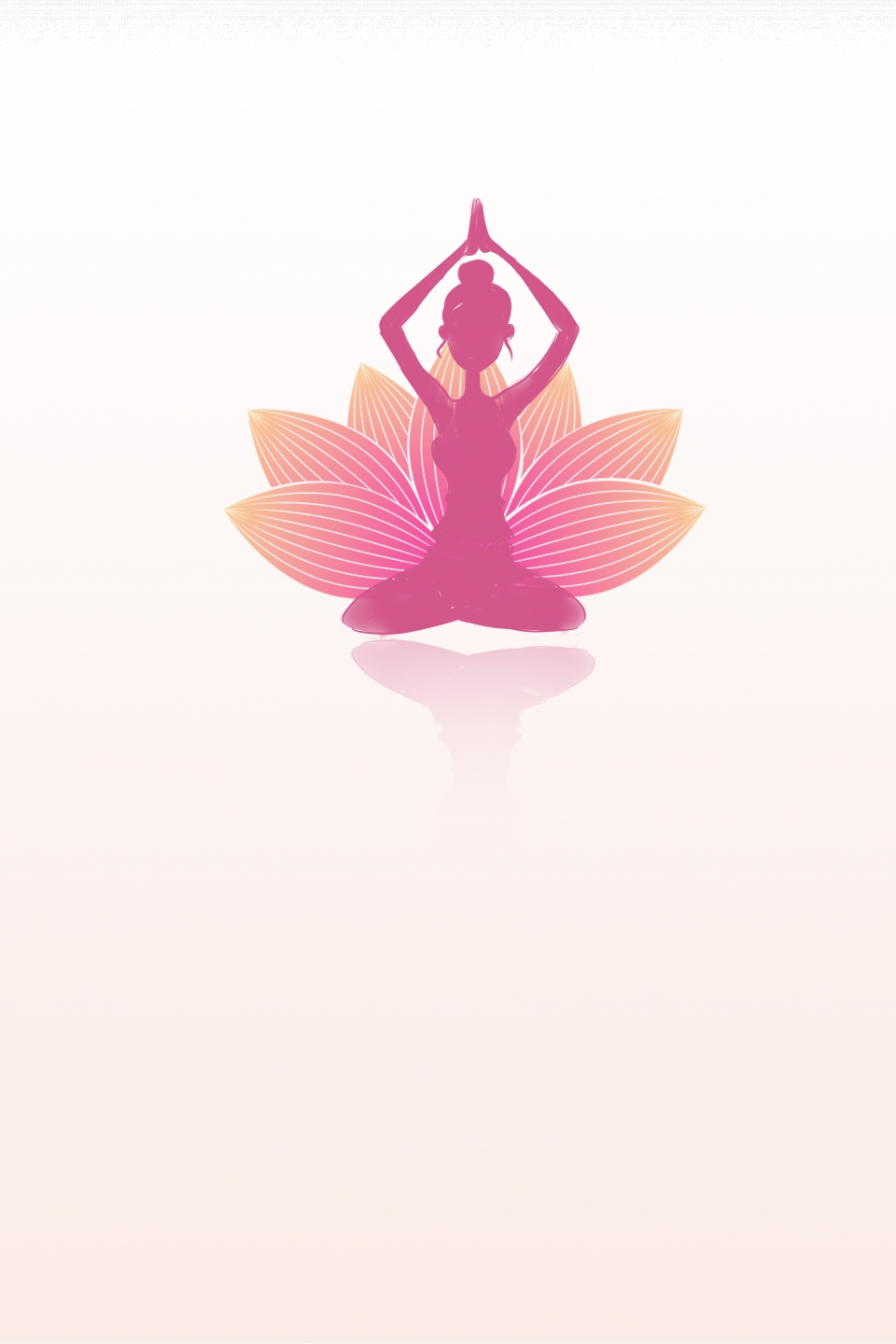 Pink Minimalist Yoga Fitness Background Pink Simple Yoga Background Image For Free Download
