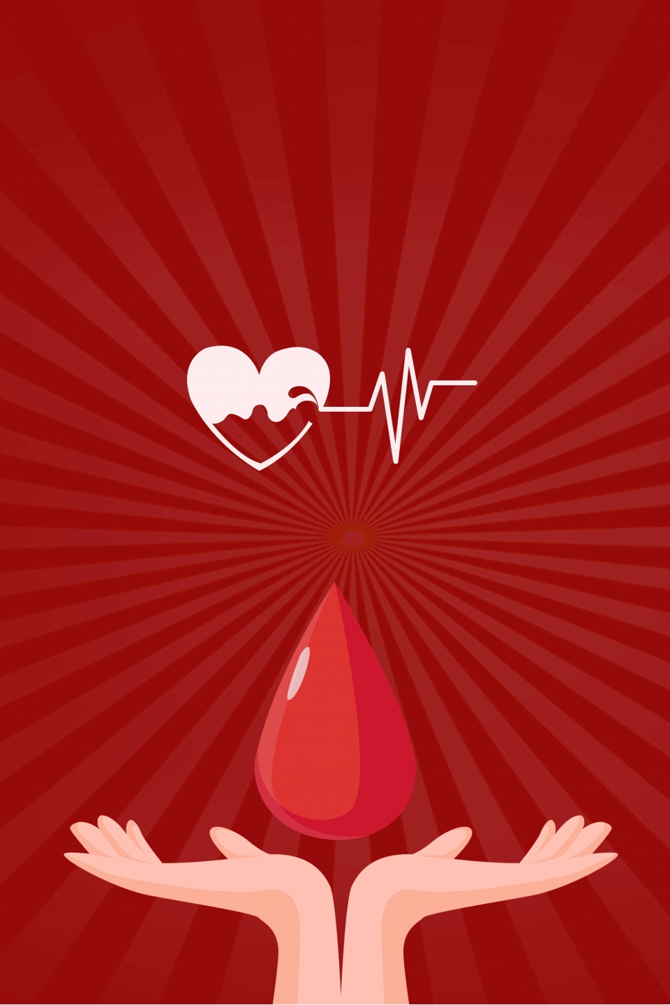Red Hand Drawn Flatized Blood Donation Vector Poster Background Hand Drawn Flattened Creative Illustration Background Image For Free Download,Free T Shirt Design Maker