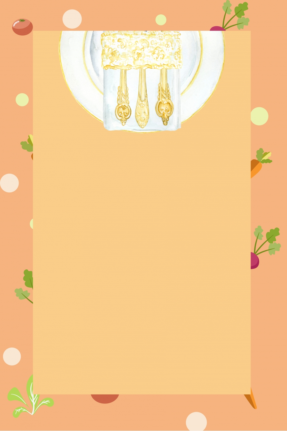 Restaurant Menu Background Material, Ordering And Folding Small