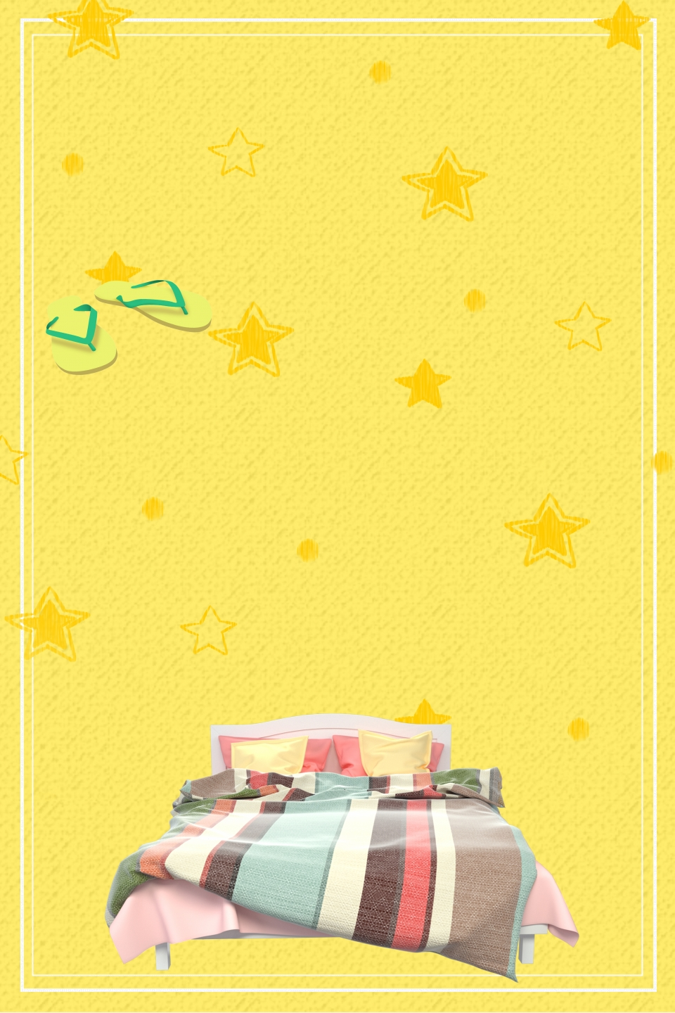 Room Bedding Poster Background Psd