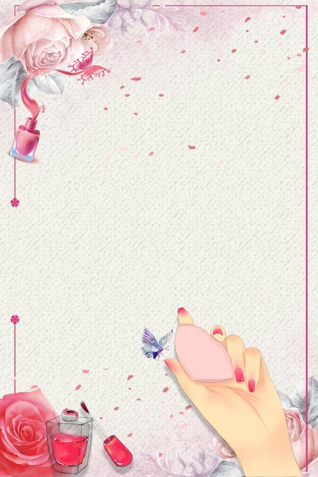 Modele De Fond Affiche Simple Nail Art Fashion Facile Manucure Mode Le Plaidoyer Image De Fond Pour Le Telechargement Gratuit
