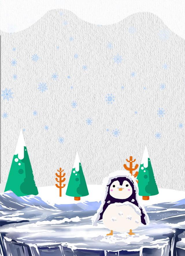 Gambar Mudah Digambar Tangan Kartun Penguin Tangan Kartun Iklan Latar Belakang Untuk Muat Turun Percuma