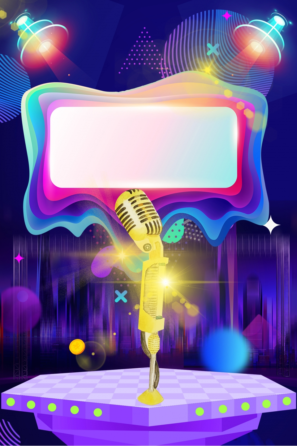Singing Competition Poster Background Material Singing Competitions Concerts Microphones Background Image For Free Download,Free T Shirt Design Maker
