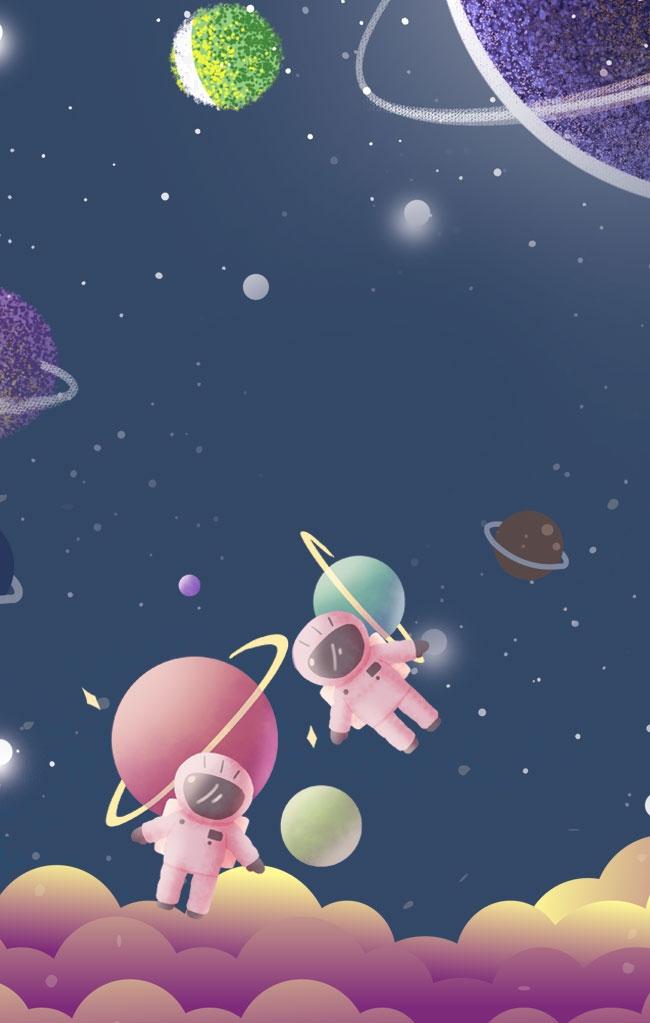 Spazio cartone animato personaggio astronauta spazio cartone