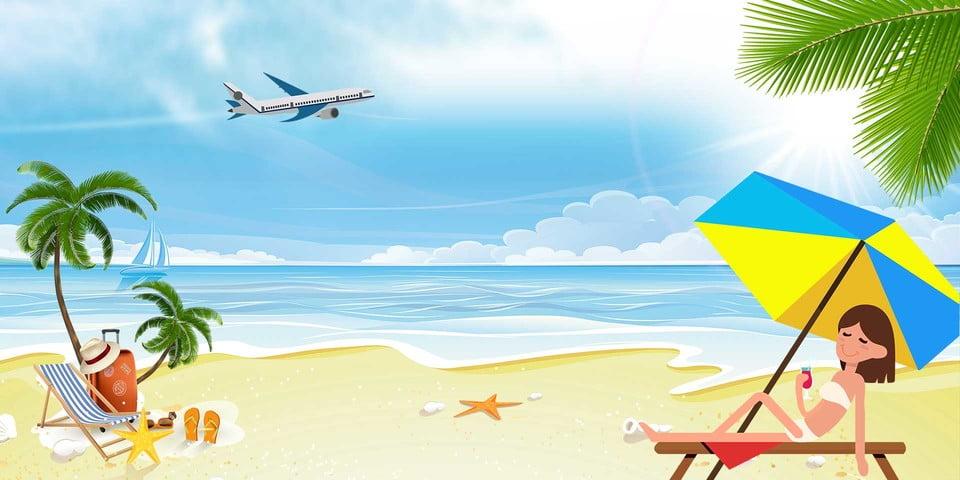 summer cartoon background poster psd resolution format tech fam