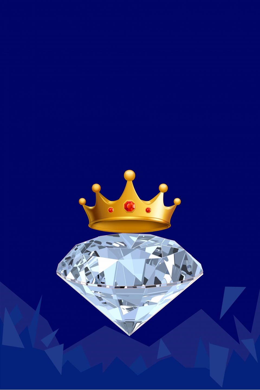 Supreme Member Glory Model Diamond Crown Blue Supreme Member Glory Background Image For Free Download