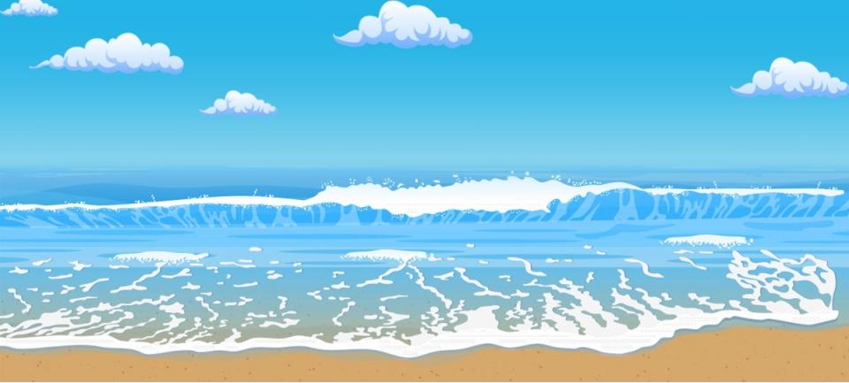 Taobao Clothing Cool Summer Cartoon Beach Banner Taobao Clothing Cool Background Image For Free Download