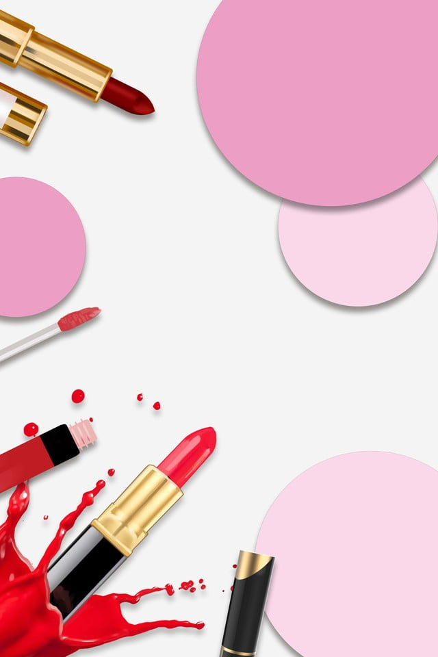 Vector Beauty Makeup Background Material Beauty Makeup Cosmetics Background Image For Free Download