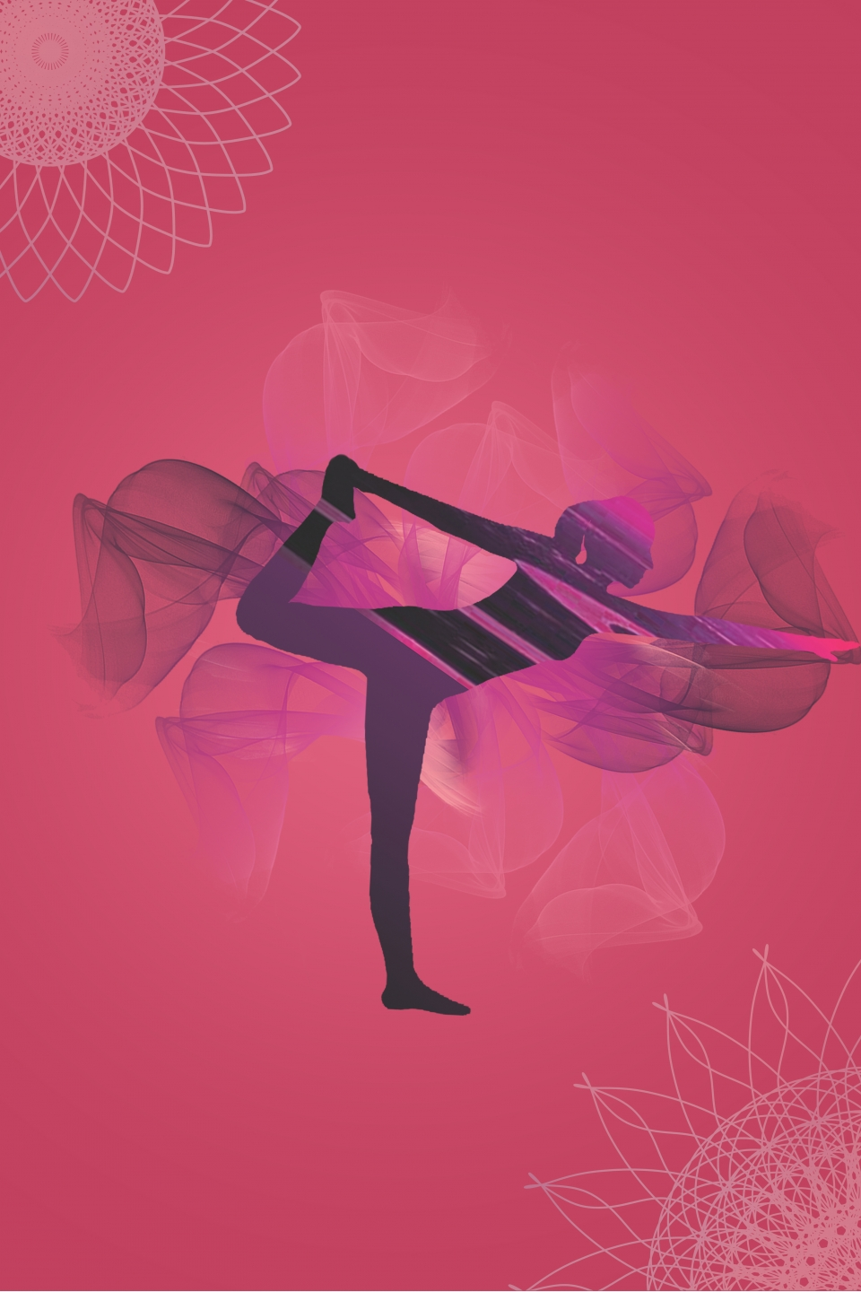 Vector Hand Drawn Fantasy Female Yoga Background Female Female Yoga Hand Drawn Background Image For Free Download