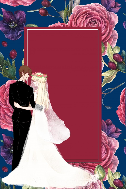 Vintage Literary Aesthetic Wedding Poster Background