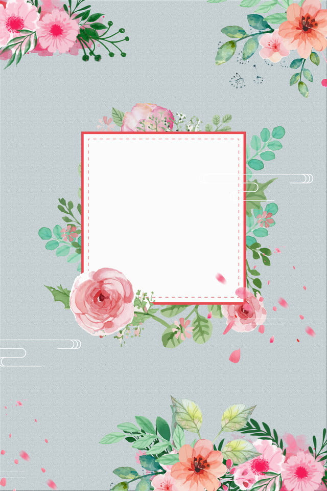 Watercolor Floral Wedding Invitation Poster Background