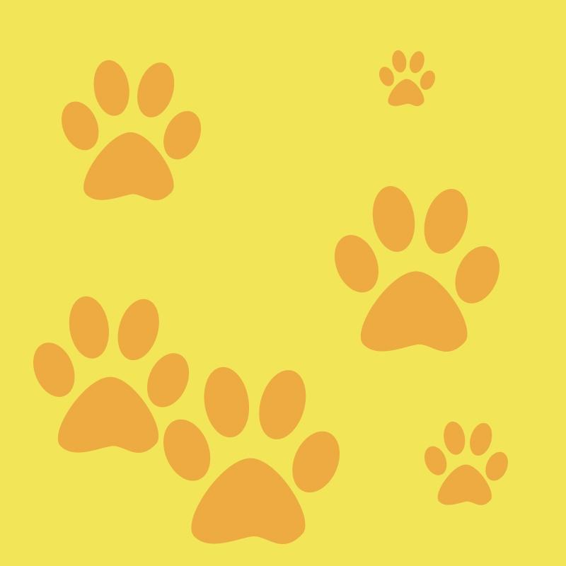 Yellow Cartoon Dog Print Pet Supplies Psd Layered Main Picture