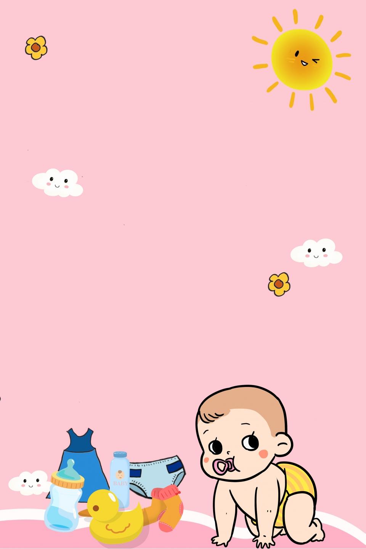 Productos Para Bebés Fondo Rosa Estilo De Dibujos Animados Juguetes Para Bebés Estilo De Dibujos Animados Bebé Fondo Rosa Imagen De Fondo Para Descarga Gratuita