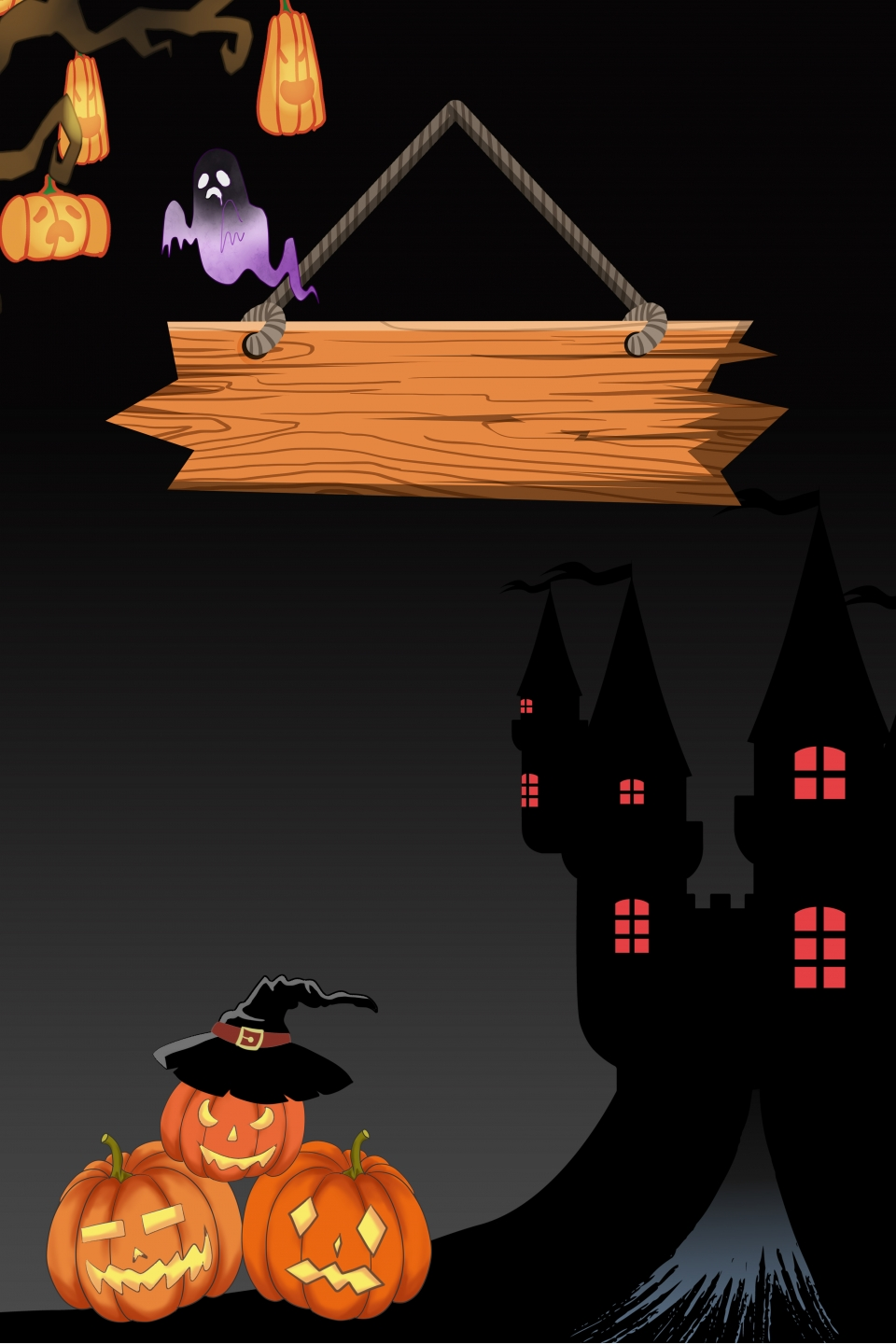 Halloween Poster Background Free.Bar Halloween Poster Background Material Bar Halloween