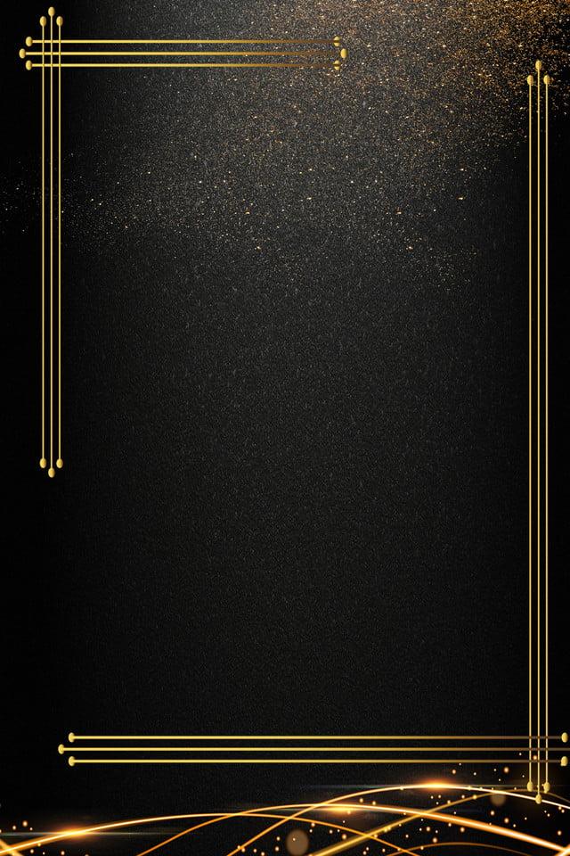 Black Gold Business Invitation Invitation Invitation Card