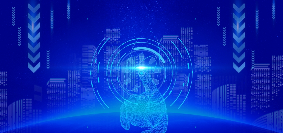 Blue Technology Future Artificial Intelligence Science ...