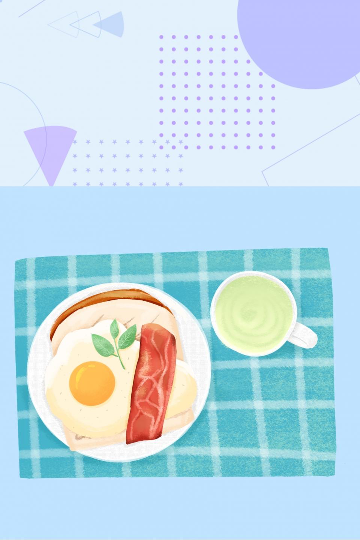 Bonjour Lever Petit Déjeuner Géométrique Bonjour