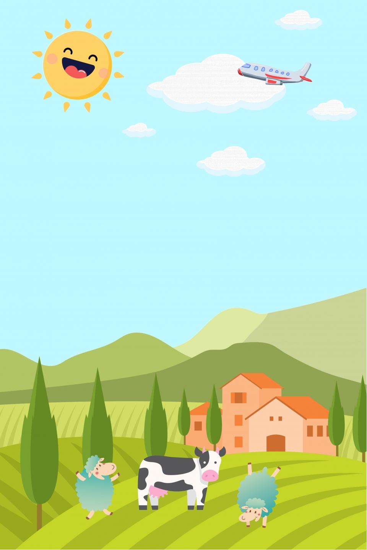 gambar kartun ladang hijau rumput rumput latar kartun latar belakang untuk muat turun percuma https ms pngtree com freebackground cartoon farm landscape poster background eid al adha 1077002 html