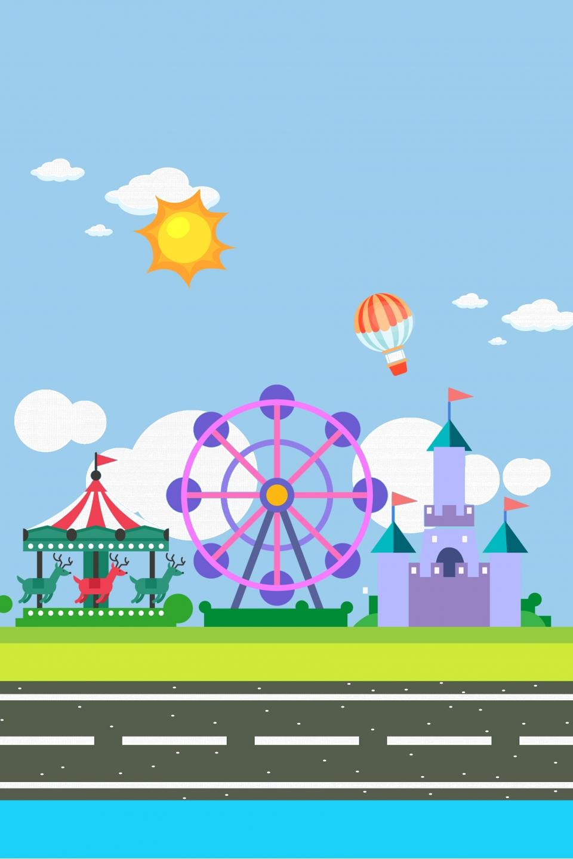 Gambar Ilustrasi Taman Bermain Gambar Kartun Taman Permainan Yang Segar Taman Hiburan Taman