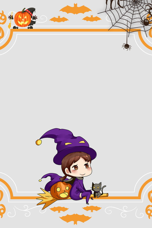 Cartoon Halloween Castle Witch Cartoon Halloween Ancient Cemetery Castle Background Image For Free Download