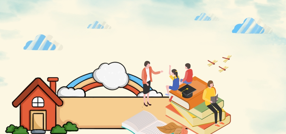 Cartoon Reading Time Reading Moment Psd Layering Cartoon Children S Reading Children S Books Background Image For Free Download