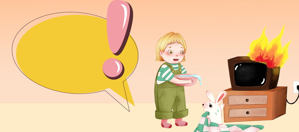 Child Safety Education Cartoon Banner Background Child Safe Education Background Image For Free Download
