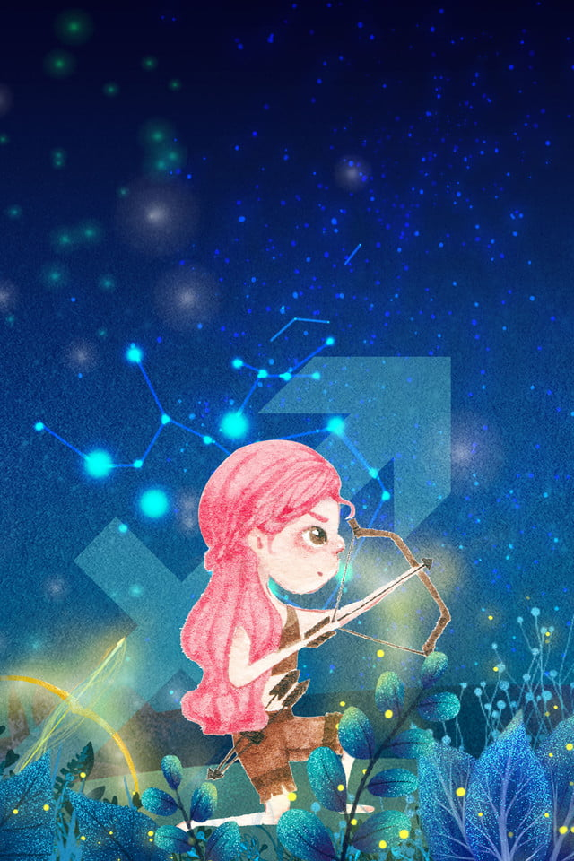 Creative Hand Drawn Cartoon Constellation Beautiful Background Constellation Twelve Constellations Starry Sky Background Image For Free Download