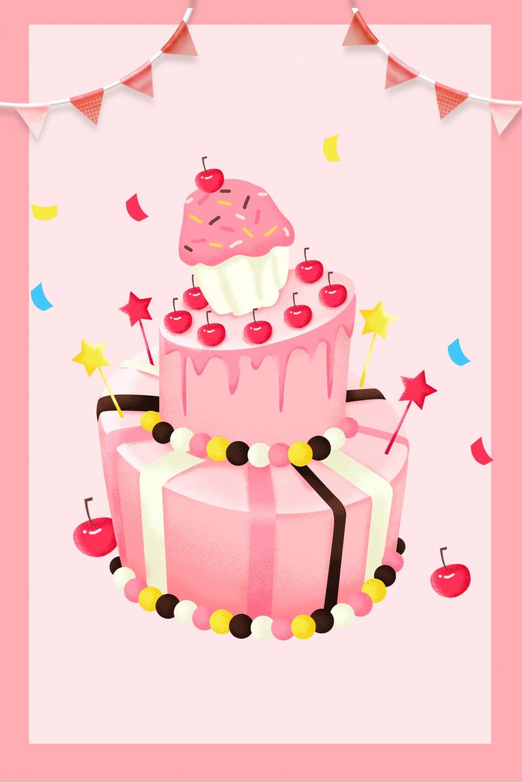 Creative Happy Birthday Birthday Cake Poster Design Cake