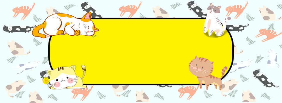 Cute Pets Attack Cute Cartoon Banner Cute Pet Pet Cute Background Image For Free Download