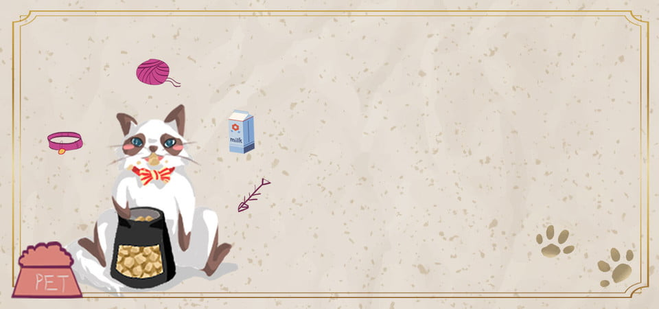 Cute Pets Attack Cute Cartoon Cat Banner Cute Pets Cute Cartoon Background Image For Free Download