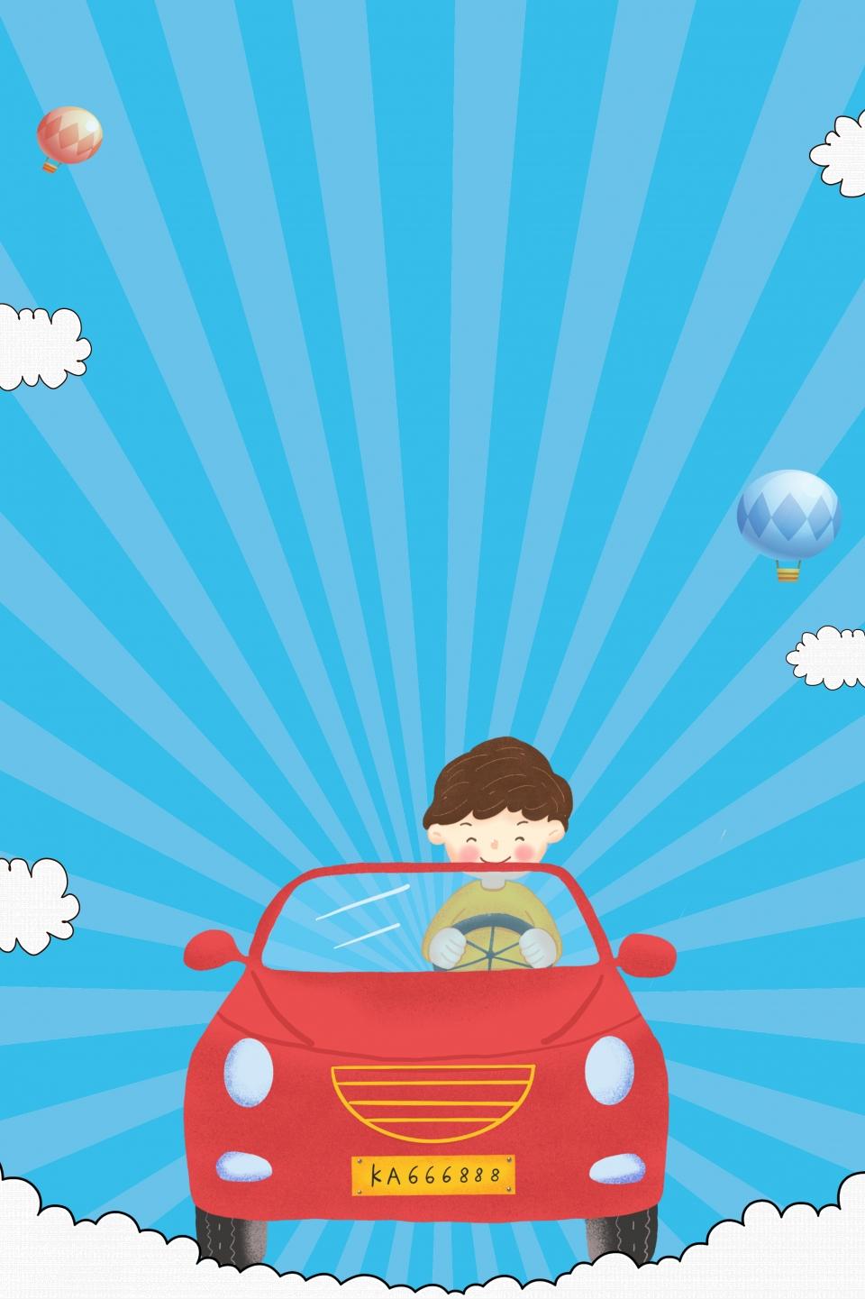 اختبار حملة ترويج سيارة مدرسية سيارة إعلان مدرسة لتعليم القيادة تسجيل في مدرسة لتعليم القيادة الأساسية رسوم متحركة سيارة سهلة التعلم صورة الخلفية للتحميل مجانا