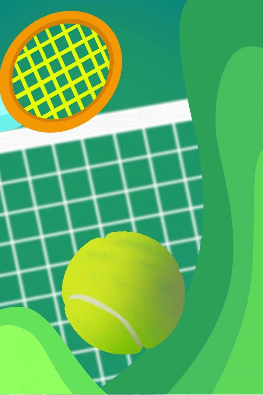 Flat Tennis Training Enrollment Advertising Poster ...