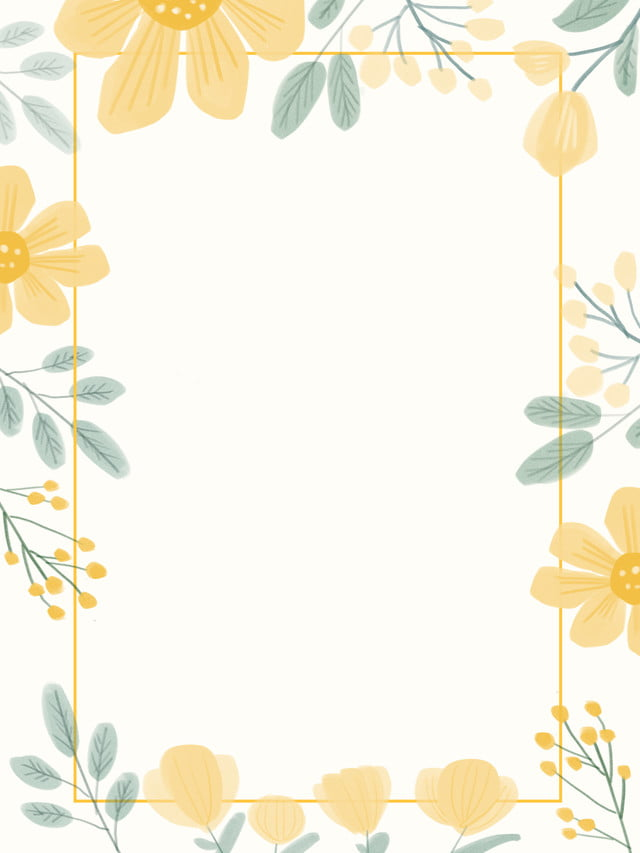 fresh wedding border flowers hand drawn background fresh and lovely nature wedding border yellow flowers background image for free download https pngtree com freebackground fresh wedding border flowers hand drawn background 996528 html