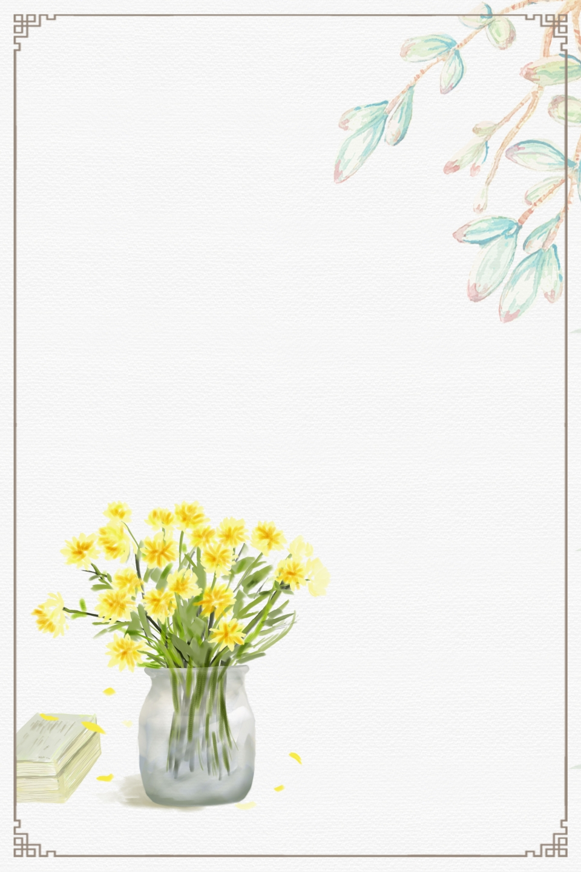 Good Morning Flower Basket, Literary Fresh And Beautiful Handpainted