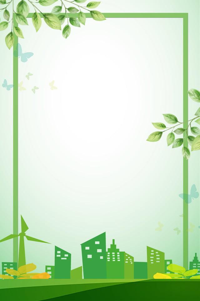 Green Fresh World Environment Day Poster Background, World ...