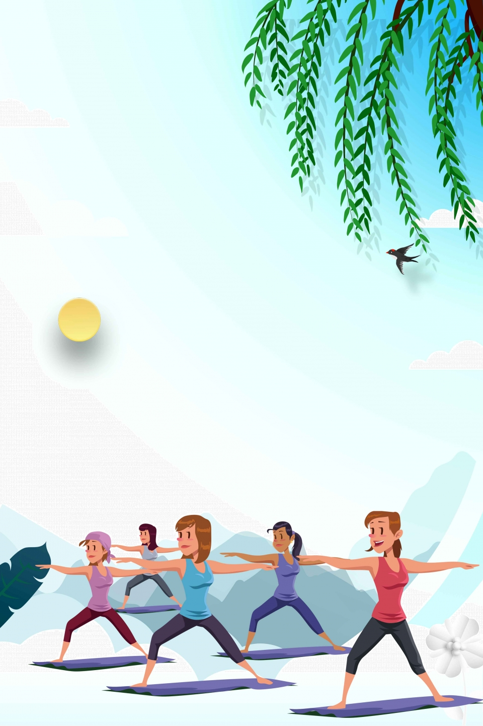 Health Yoga Poster Background Material Health Yoga Gold Yoga Indian Yoga Background Image For Free Download