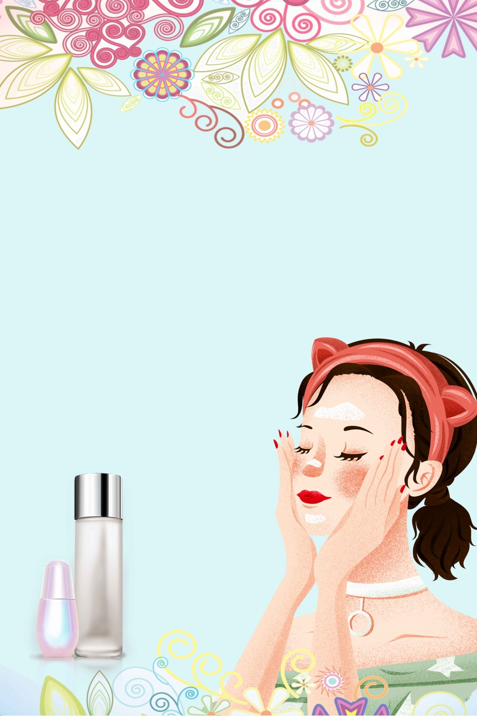 High End Skin Care Cosmetics Beauty Background Tmall Taobao Summer Background Image For Free Download
